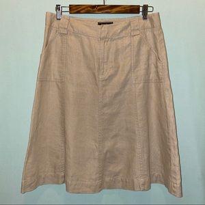 Eddie Bauer 100% Linen Skirt
